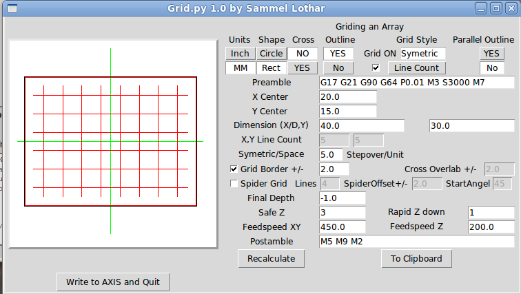 LinuxCNC Documentation Wiki: Simple LinuxCNC G-Code Generators